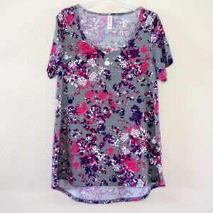 LulaRoe Disney Classic T Shirt Floral Minnie Top